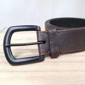 Andrew Marc dark brown leather belt